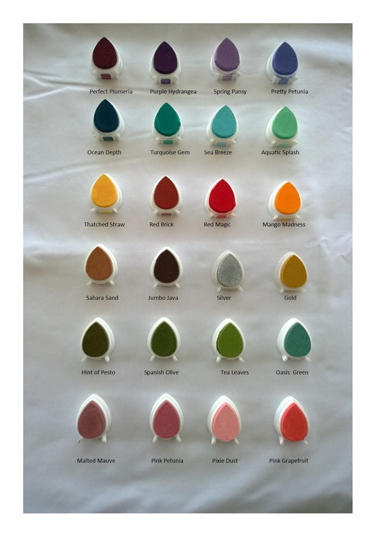 Colour Chart Fingerprint Mementos
